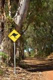 Kangaroo Sign Royalty Free Stock Image