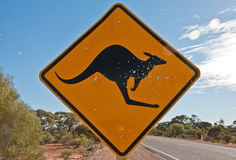 Kangaroo signal Royalty Free Stock Photo