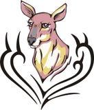 Kangaroo tattoo Stock Images
