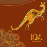 Kangaroo tribal background Stock Image