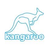 Kangaroo. Vector blue logo. icon symbol. Royalty Free Stock Photography
