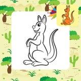 Kangaroo vector illustration. Coloring book Stock Photography