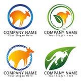 Kangaroo Vector Logo Stock Photography