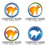 Kangaroo Vector Logo Stock Images
