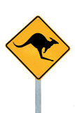 A kangaroo warning sign Australia Stock Photography