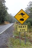 Kangaroo and Wombat Road Sign 2 Royalty Free Stock Images