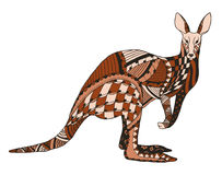 Kangaroo zentangle stylized, vector, illustration, freehand penc Stock Image