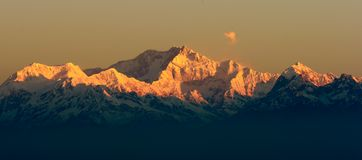 Kangchendzonga berg Royaltyfri Foto