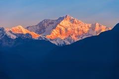 Kangchenjunga mountain view Royalty Free Stock Image