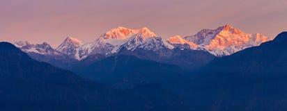 Kangchenjunga mountain view Royalty Free Stock Photography
