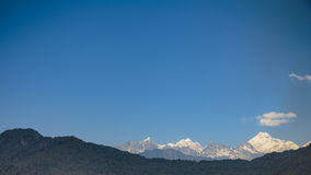 Kangchenjunga mountain that view in the morning in Sikkim, India. Royalty Free Stock Images