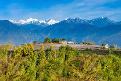 Kangchenjungagezichtspunt, Pelling stock afbeelding
