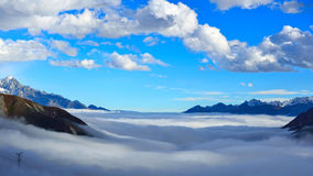 Kangding off mountainous clouds Stock Images