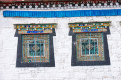 Kangding Tibetan temple windows Stock Images