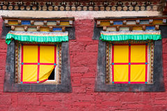 Kangding Tibetan temple windows Stock Photography