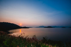 Kangkachan dam in Thailand Royalty Free Stock Images