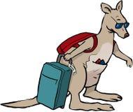 Kangoeroe die Australië breien Stock Afbeeldingen