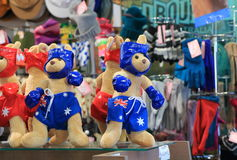 Kangoeroe gevuld stuk speelgoed Australië Stock Foto