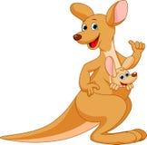 Kangoeroebeeldverhaal Stock Afbeeldingen