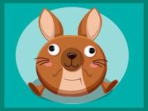 Kangoeroebeeldverhaal Grappig beeldverhaal en vector dierlijke karakters Royalty-vrije Stock Afbeeldingen