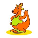 Kangoeroeembleem stock illustratie