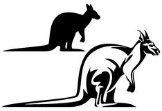 Kangoeroeontwerp Royalty-vrije Stock Afbeeldingen