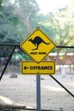 Kangoeroeverkeersteken E stock afbeelding