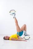 Kangoo salta l'atleta Immagini Stock Libere da Diritti