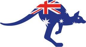 Kangourou de drapeau d'Australie illustration libre de droits