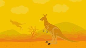 Kangourou sur la nature Photo libre de droits