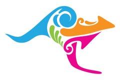 Kangourou tribal Images libres de droits