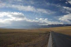 Kangrinboqe nel Tibet Fotografie Stock