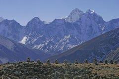 kangtega mt尼泊尔 免版税图库摄影
