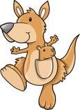 kangura śliczny wektor ilustracji