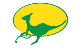 Kangura benzynowy logo Obrazy Stock