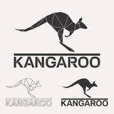Kangura loga set Zdjęcie Stock