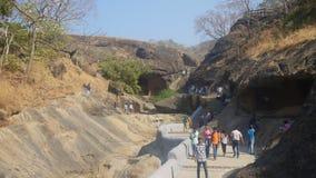 Kanheri洞,孟买 免版税库存照片