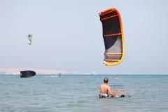 kani kiteboarder udźwig Zdjęcie Royalty Free