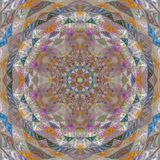 Kani mozaiki patchworku mandala ilustracja wektor