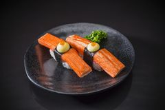 Kani Nigiri, sushi Kani images stock