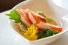 Kani Sashimi Kani Sashimi.,Imitation crabmeat. Stock Photography