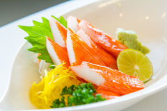 Kani-Sashimi-Kani-Sashimi , Nachgemachtes Krabbenfleisch Stockfotografie
