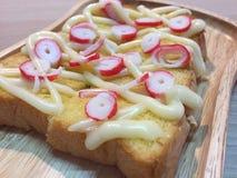 Kani Toast. Kani mayonnaise toast royalty free stock images