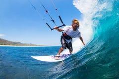 Kania surfing zdjęcia stock