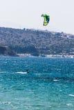 Kania surfing na tureckim morzu Obrazy Royalty Free