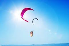 Kania surfingu kanwy niebieskie niebo Obraz Royalty Free