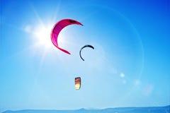 Kania surfingu kanwy niebieskie niebo Zdjęcie Royalty Free