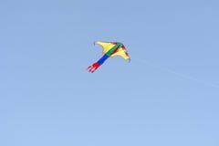 Kania z colourful projekta lataniem w niebie Zdjęcia Stock
