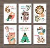 kanin för födelsedagkortgåva vektor illustrationer