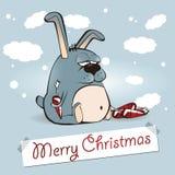 Kanin för glad jul stock illustrationer